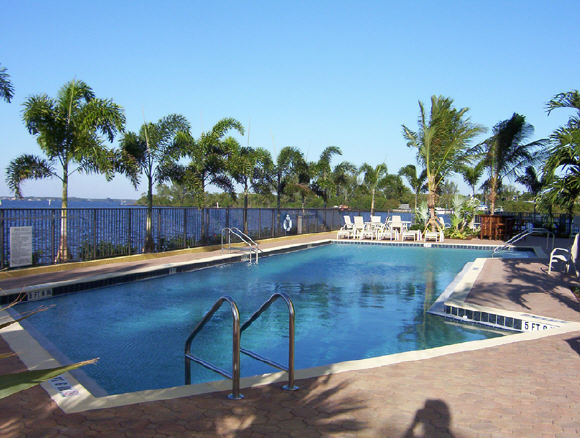 The Beau Rivage, waterfront pool