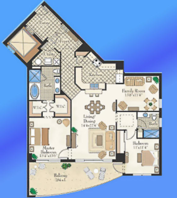Unit B West Floor Plan